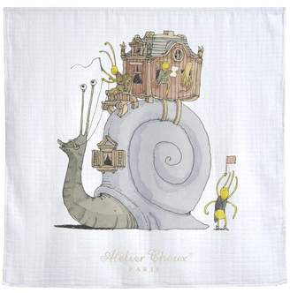 Atelier Choux Snail Riding Swaddle Blanket