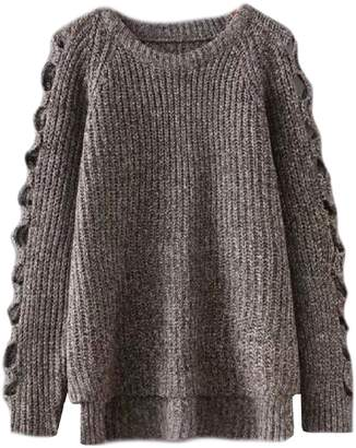 Goodnight Macaroon 'Leisa' Cut Out Sleeves Knitted Sweater (3 Colors)