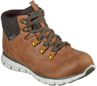 Skechers Womens Synergy Lace Up Boots