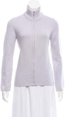 Malo Cashmere Zip-Front Cardigan