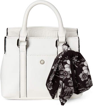 Steve Madden Blux Scarf-Accented Satchel