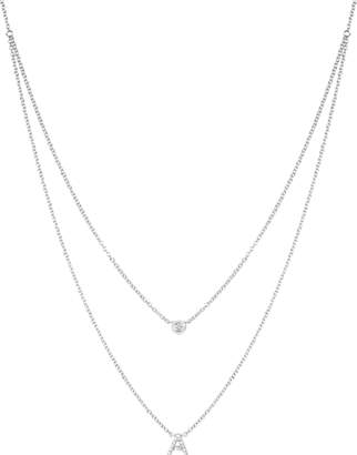 Ef Collection Diamond Initial Choker Necklace