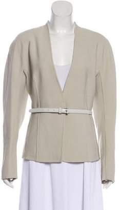 Donna Karan Long Sleeve Belted Blazer
