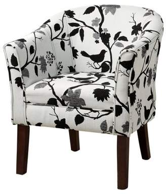 Coaster Company Accent Chair, Black and White