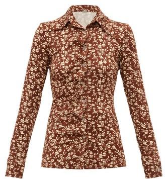 Dodo Bar Or Paya Floral Print Shirt - Womens - Brown White