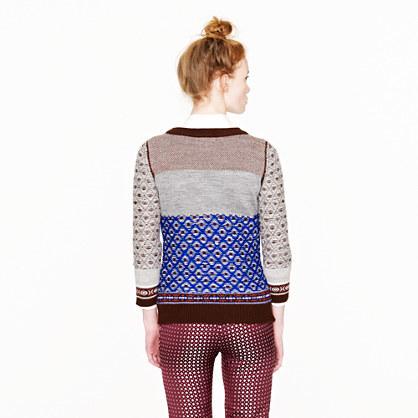 J.Crew Inside-out Fair Isle sweater
