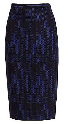 St. John Women's Stretch Mosaic Jacquard Knit Pencil Skirt
