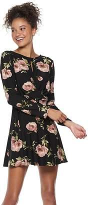 Juniors' Lily Rose Twist Front Swing Dress