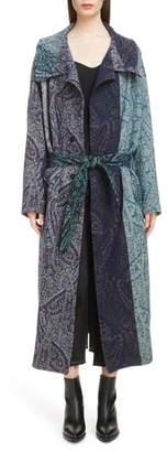 Yohji Yamamoto Y's by Paisley Jacquard Wool Coat