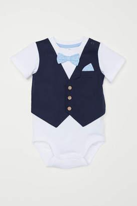 H&M Bodysuit with Vest - White/dark blue - Kids