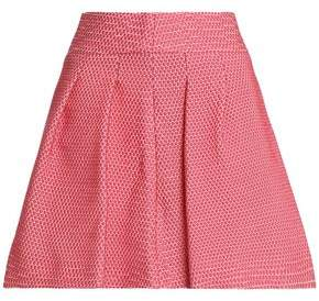 RED Valentino Flared Pleated Jacquard Mini Skirt