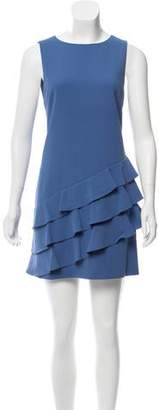Alice + Olivia Ruffle-Trimmed Mini Dress
