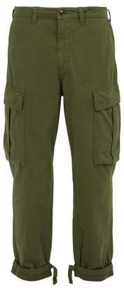 Acne Studios Hunter Cotton Twill Cargo Trousers - Mens - Green