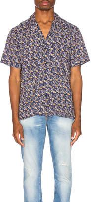Nudie Jeans Arvid Hawaii Logo Bay Shirt in Midnight | FWRD
