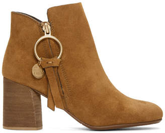 See by Chloe Tan O-Ring Louise Ankle Boots