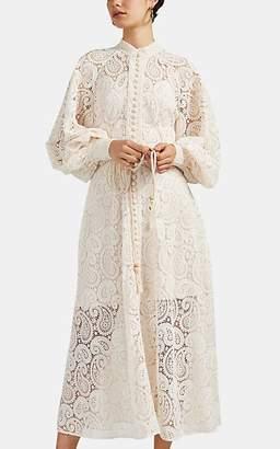 Zimmermann Women's Amari Paisley-Lace Belted Dress - White