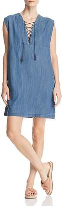 Velvet Heart Hartley Chambray Lace-Up Dress