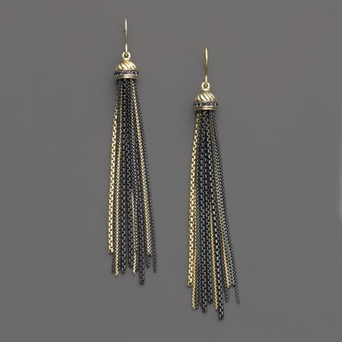 David Yurman 18K Gold Drop Earrings