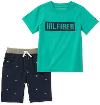Tommy Hilfiger Baby Boys 2-Pc. Graphic-Print T-Shirt & Shorts Set