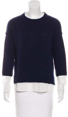 Brochu Walker Wool Shirt-Accented Sweater