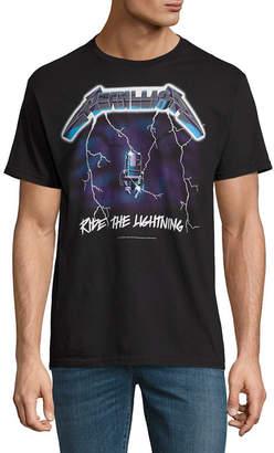 Novelty T-Shirts Metallica Ride the Lightning Graphic Tee