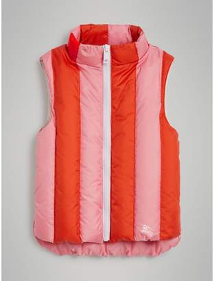Burberry Childrens Striped Showerproof Down-filled Gilet