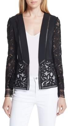Ted Baker Liela Sheer Lace Panel Jacket