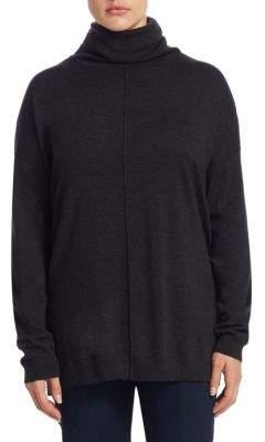 Eileen Fisher, Plus Size Plus Turtleneck Merino Wool Top