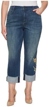 NYDJ Plus Size Plus Size Marilyn Ankle w/ Applique Cuff in Desert Gold Women's Jeans
