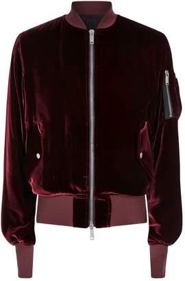 Unravel Velvet Bomber Jacket