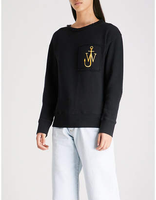 J.W.Anderson Logo-embroidered cotton-jersey sweatshirt
