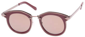 Karen Walker Bounty Two-Tone Round Sunglasses, Red