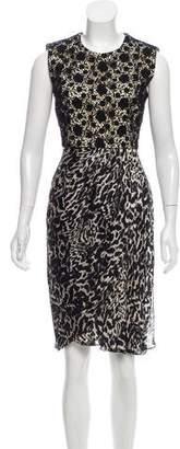 Giambattista Valli Lace-Paneled Knee-Length Dress