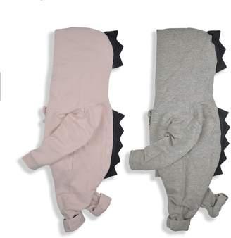 Minilove Baby multicolored Dinosaur Hoodie Jumpsuit(90,)