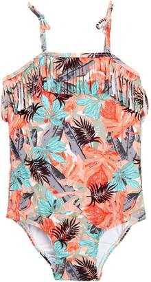 Jessica Simpson Tropical Flowers Fringe Suit (Toddler Girls)