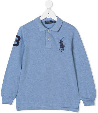 Ralph Lauren Kids long sleeve polo shirt