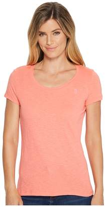 U.S. Polo Assn. Scoop Neck Solid T-Shirt Women's Short Sleeve Pullover