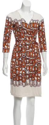 Diane von Furstenberg Silk Printed Wrap Dress