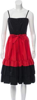 Lanvin Sleeveless Midi Dress Black Sleeveless Midi Dress