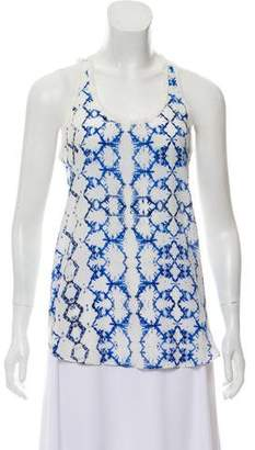 Rebecca Taylor Printed Silk Top w/ Tags
