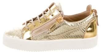 Giuseppe Zanotti London Metallic Sneakers w/ Tags