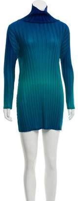 Pleats Please Issey Miyake Pleated Ombré Dress
