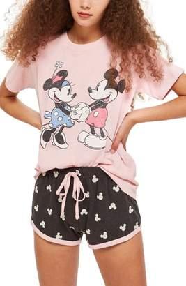 Topshop Minnie & Mickey Short Pajamas