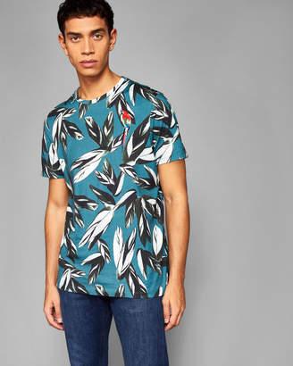 a8b0db71b Ted Baker ELDON Leaf print cotton T-shirt