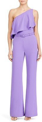 Lauren Ralph Lauren One-Shoulder Jumpsuit $165 thestylecure.com
