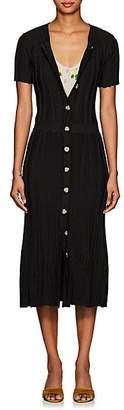 Altuzarra Women's Abelia Rib-Knit Button-Front Dress - Black
