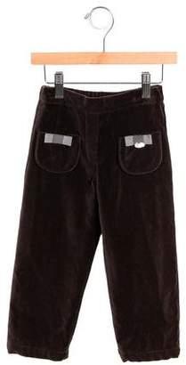 Tartine et Chocolat Girls' Velvet Straight-Leg Pants w/ Tags