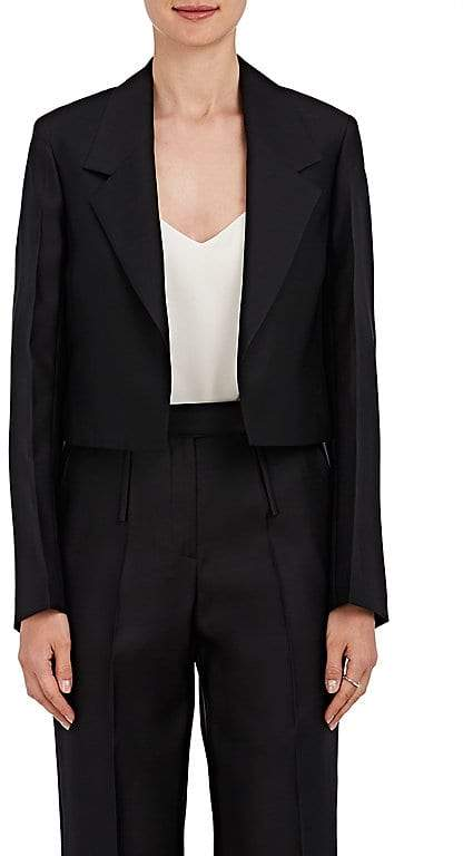 Calvin Klein CALVIN KLEIN WOMEN'S WOOL-SILK GABARDINE CROP BLAZER