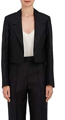 Calvin Klein WOMEN'S WOOL-SILK GABARDINE CROP BLAZER