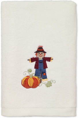 Avanti Last Act! Scarecrow Cotton Embroidered Hand Towel Bedding